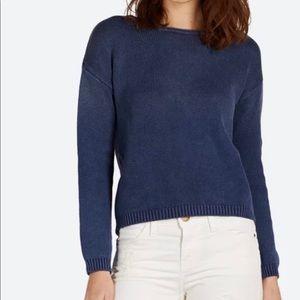 Current/Elliot The Loner Sweater Indigo Fade Blue